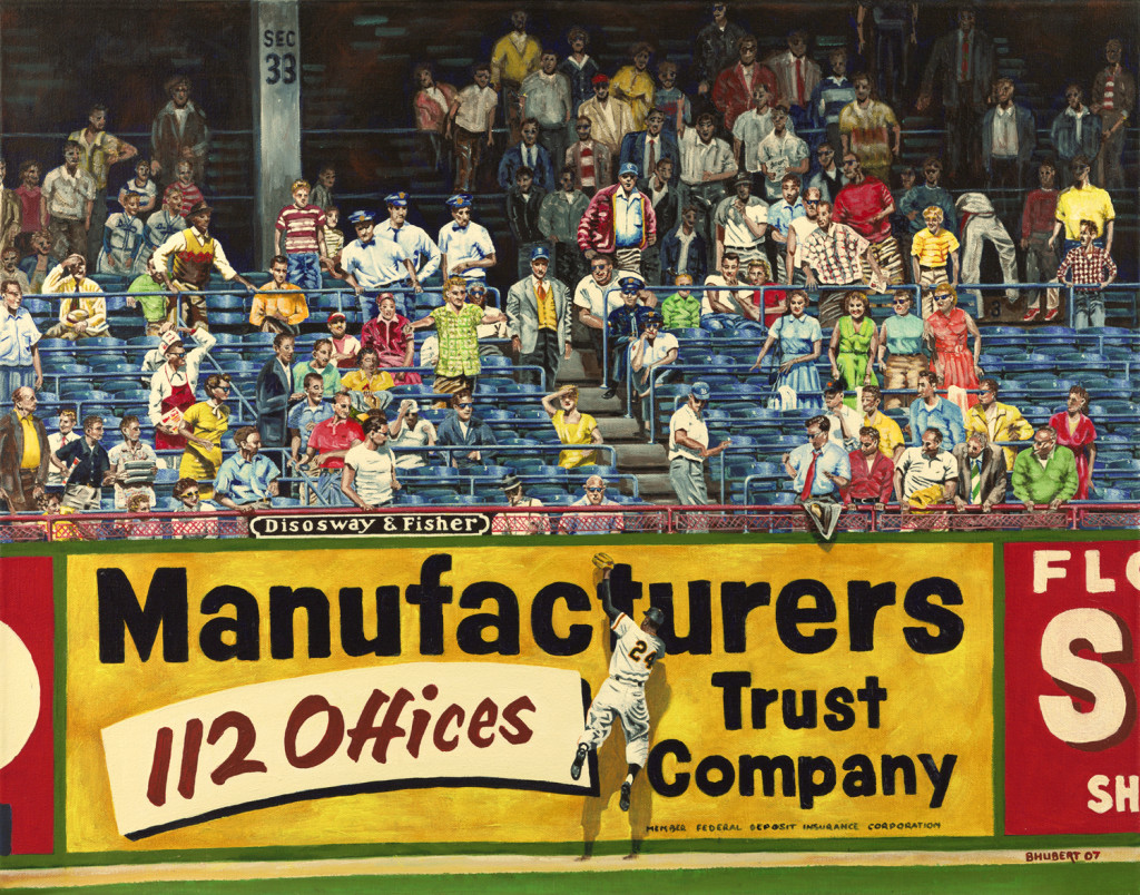 """""""Willie Mays and 112 Offices,""""                                   22x28, Ebbets Field, Brooklyn, NY, by Bernie Hubert"""