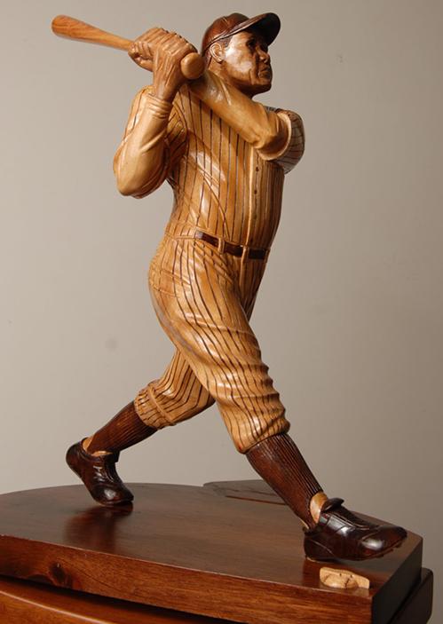 """Bambino (18"""" Mahogany sculpture on Mahogany base)"""