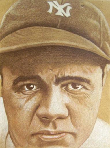 """Babe Ruth,"" by artist Brent Naughton"