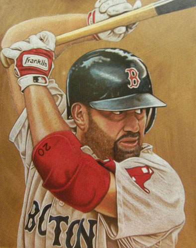"""""""Kevin Youkilis,"""" by artist Brent Naughton"""