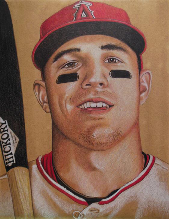 """""""Mike Trout,"""" by artist Brent Naughton"""