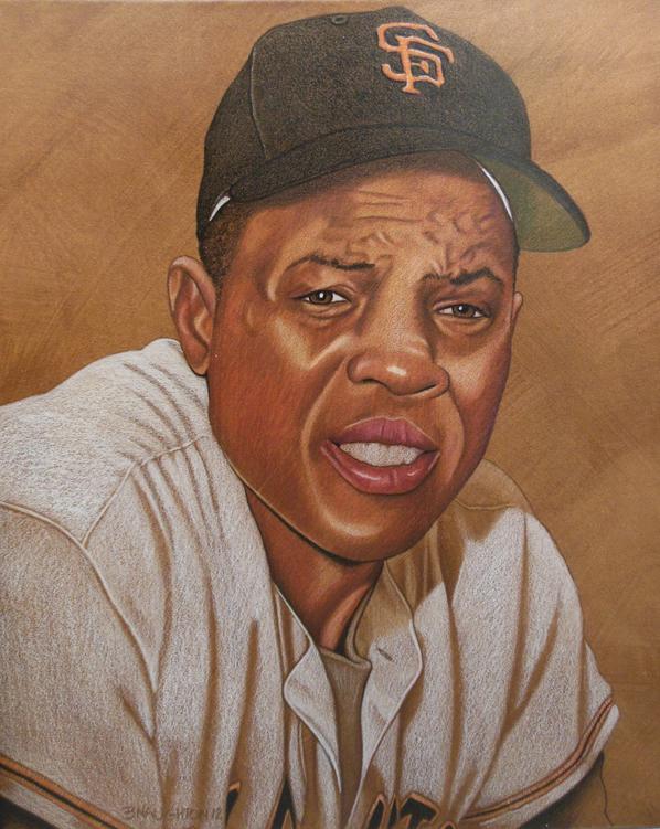 """Willie Mays,"" by artist Brent Naughton"
