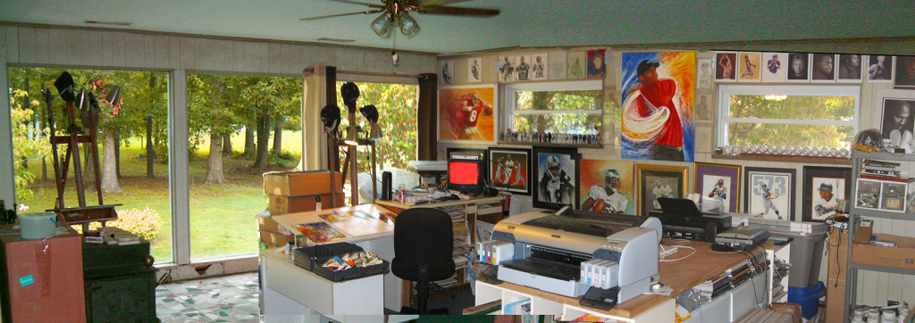 Ben Teeter's Tennessee studio.