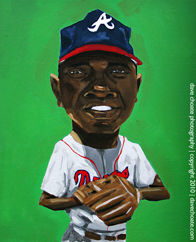 """""""Hank Aaron"""" by artist Dave Choate"""