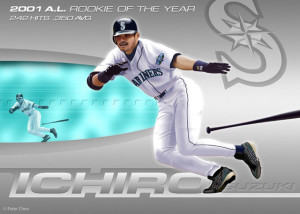 Ichiro, by artist Peter Chen