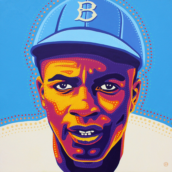 """Jackie Robinson"" by artist Peter Chen"