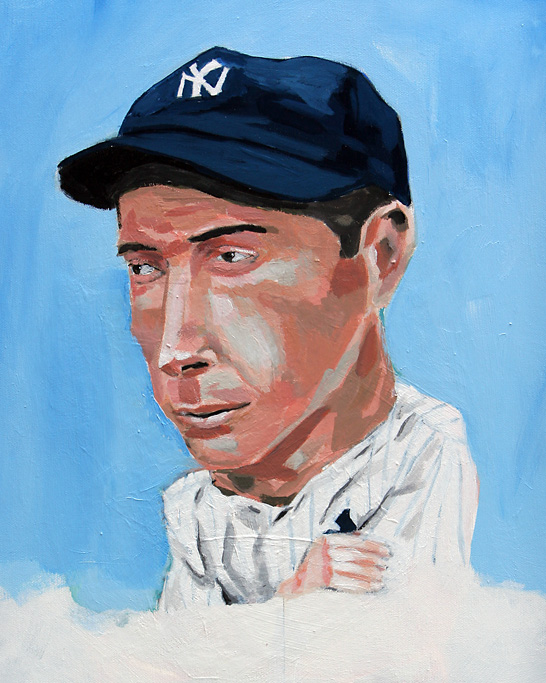 """Joe DiMaggio"" by artist Dave Choate"