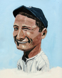 """""""Lou Gehrig"""" by artist Dave Choate"""