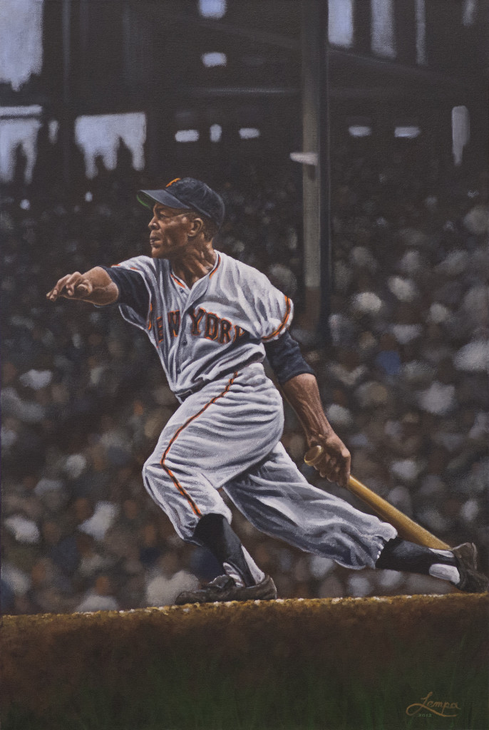 """Willie Mays"" by artist Paul Lempa"