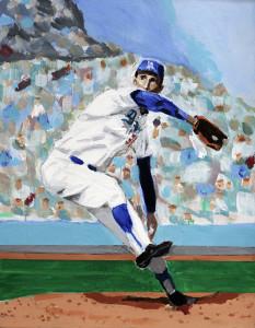 """Sandy Koufax"" by artist Dave Choate"