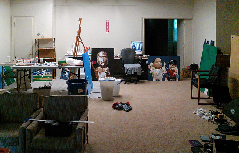 Baseball artist Dave Choate's studio