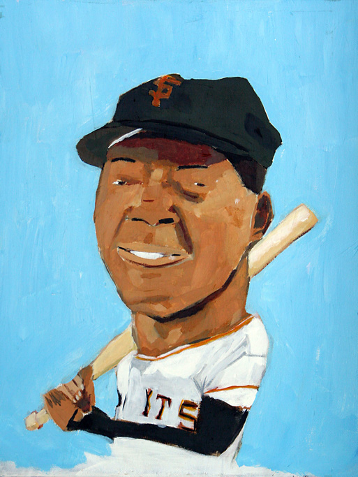 """""""Willie Mays"""" by artist Dave Choate"""