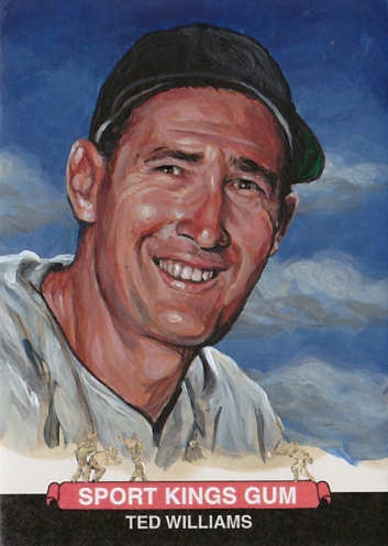"""Ted Williams"" by artist Jared Kelley"