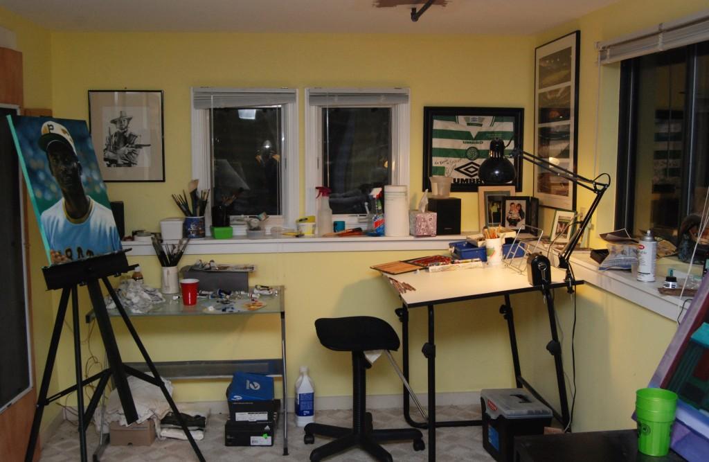 Artist Kevin McNeil's studio