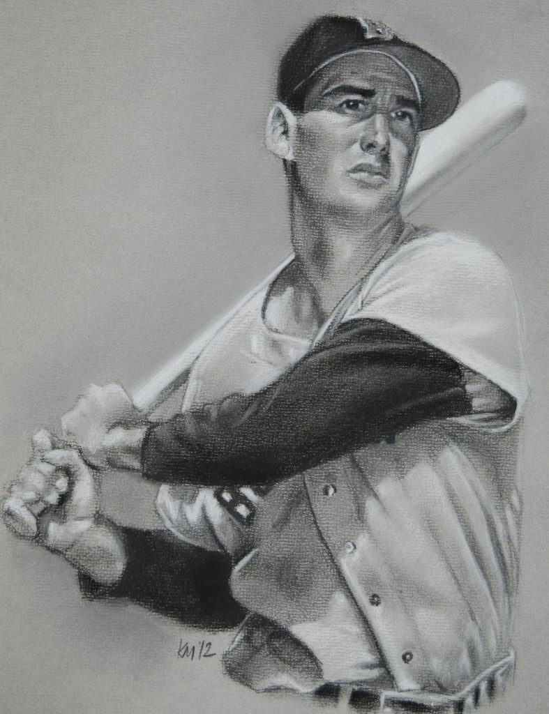 """Ted Williams"" by Kevin McNeil"